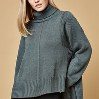 Lucca Couture Tracy Turtleneck High Low Sweater at PacSun.com
