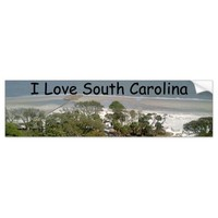 South Carolina Beach Photograph Bumper Sticker