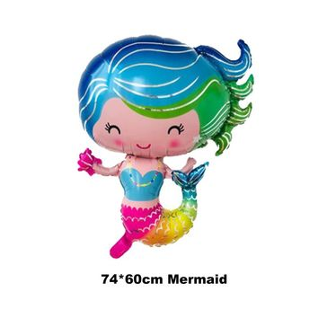 1pc princess Ariel balloon 74*60cm size cartoon A little mermaid balloons foil material for birthday balloons party toys