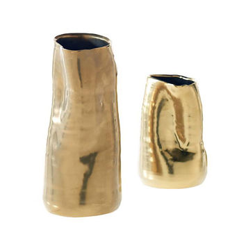 Teagan Gold Ceramic Vase
