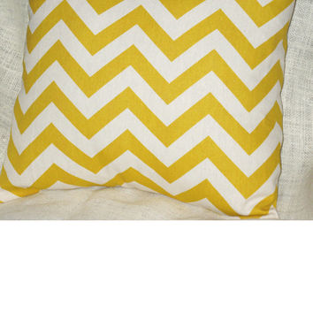 Chevron Pillow Cover  16 x 16 Chevron Pillow Cover  Chevron Decorative Pillow
