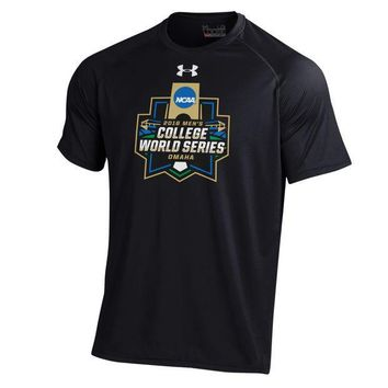 ESBON NCAA 2016 Men's College World Series Logo Under Armour T-Shirt Black