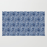 Big Shells: Navy Rug by Eileen Paulino