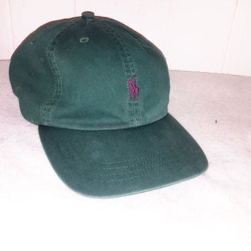 Vintage 90s Polo Ralph Lauren Leather Strapback hat cap  Retro Dope polo sport tommy nautica