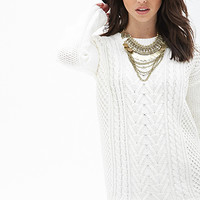 FOREVER 21 Mixed Knit Sweater