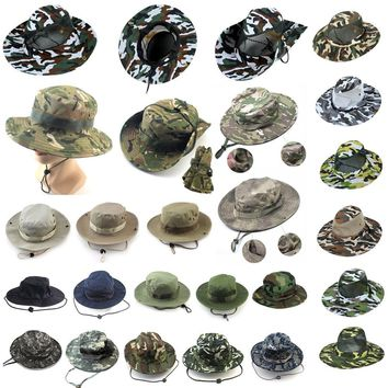 Men Boonie Bucket Hat Sun Snap Cap Camo Military Hunting Fishing Hiking Outdoor