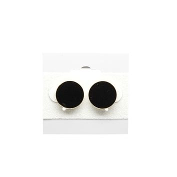 Black Round Fashion Earrings