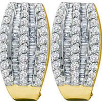 Diamond Fashion Earrings in 14k Gold 1 ctw