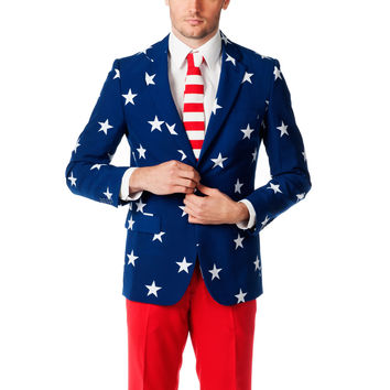 The Merican Gentleman American Flag Dress Suit
