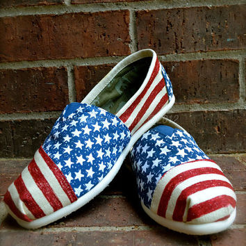Stars & Stripes Forever Custom TOMS Shoes by Artistic Soles
