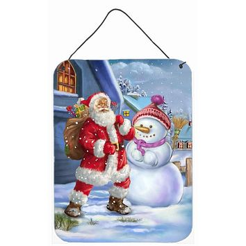 Christmas Santa Claus and Snowman Wall or Door Hanging Prints APH6200DS1216