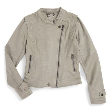 Jou Jou Faux Suede Moto Jacket (Big Girls) | Nordstrom