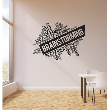 Vinyl Wall Decal Brainstorming Office Space Business Words Cloud Interior Stickers Mural (ig5739)