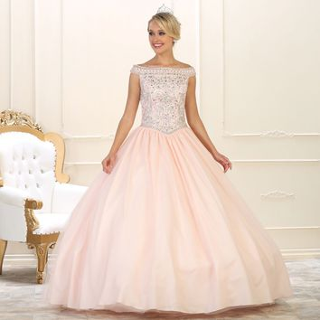 Long Quinceanera Sweet 16 Ball Gown