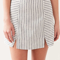 Cooperative Kendric Notch Hem Linen Skirt - Urban Outfitters