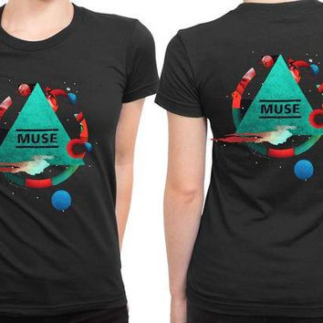 VONEED6 Muse Poster Pyramid Tour 2 Sided Womens T Shirt