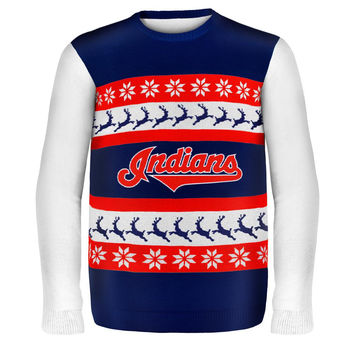 Cleveland Indians - One Too Many Ugly Christmas Sweater
