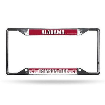 Alabama Crimson Tide NCAA Chrome EZ View License Plate Frame