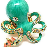 Gorgeous Octopus Ring Goldtone by nkir8080 on Sense of Fashion