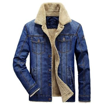 Trendy 2018 Coats Fashion Clothing Denim Jackets Thick Winter Jackets Warm Jackets Jeans Men coat AT_94_13