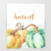 harvest Throw Blanket by Sylvia Cook Photography