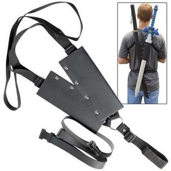 Universal Lightening Warrior Double Sword Back Strap Sheath