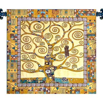 Tree of Life by Gustav Klimt Tapestry Wall Art Hanging