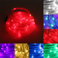 7M 50 LED Solar Rope Tube Led String Strip Fairy Light Outdoor Garden Christmas Party Decor Waterproof