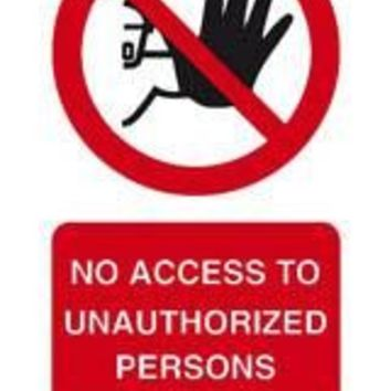 Tie tag, No access to unauthorized persons - Pack of 10