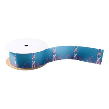 Spring Flowers Satin Ribbon