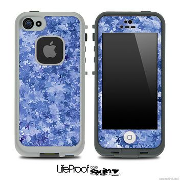 Layered Blue Stars Skin for the iPhone 5 or 4/4s LifeProof Case