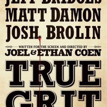 True Grit movie poster Sign 8in x 12in