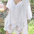 White Lace Panel Beach Cover-Up