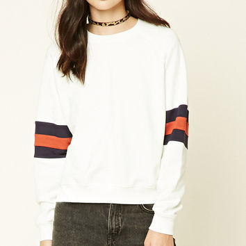 French Terry Striped Sweatshirt