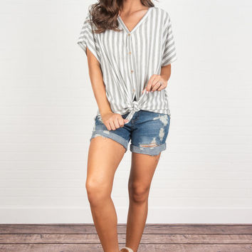 Strive For The Best Top, Heather Gray