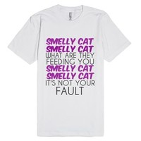 Cat That Smells-Unisex White T-Shirt