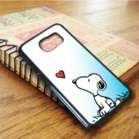 Snoopy Cartoon Samsung Galaxy S6 Edge Case