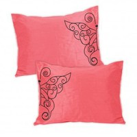 Wake Up Frankie - Romancing the Ruffles Standard Sham Set - Neon Pink (Pre-Order!)