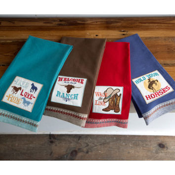 Down Home Western Dish Towels - Kitchen - Home