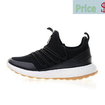Sneaker paint Mens Adidas Pure Boost Black White Gum BA8802 sneaker