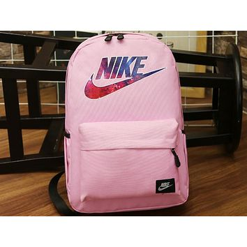 NIKE 2018 New Sports Backpack Backpack Men and women Schoolbag F-A30-XBSJ Pink