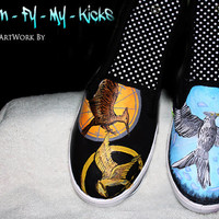 Custom painted The Hunger Games shoes