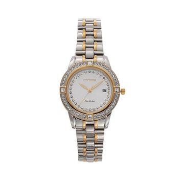 Citizen Eco-Drive Women's Silhouette Two Tone Stainless Steel Watch - FE1154-57A (Gold/Silver Tone)
