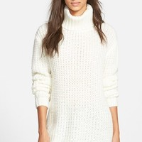 Women's MINKPINK 'Another Night' Chunky Knit Tunic Sweater,