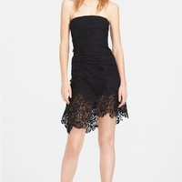 Nina Ricci Lace Detail Ruched Dress