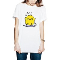 Cute Chicken Unisex T shirt White_LOKIshop
