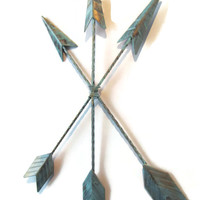 Patina Arrow Wall Hanging / Arrow Wall Art / Trendy Home Decor / Arrow Nursery Decor / Tribal Home Decor / Native American Wall Arrow
