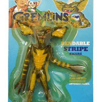 Vintage 80s Gremlins Bendable Stripe LJN Action Figure Toy Doll New in Card