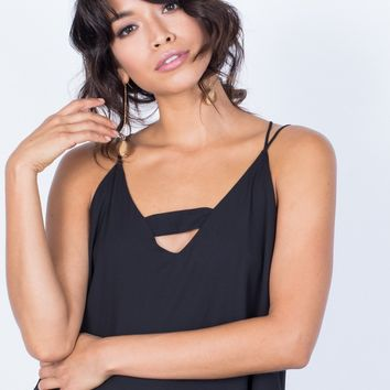 Strapped in Chiffon Tank