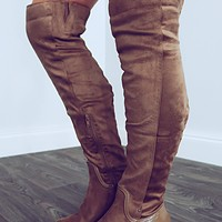 Stick Together Boots: Taupe